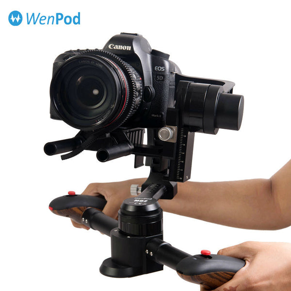 Wenpod MD2 black brushless handheld 3-axis gimbal compatible with most popular DSLR cameras for Canon Nikon