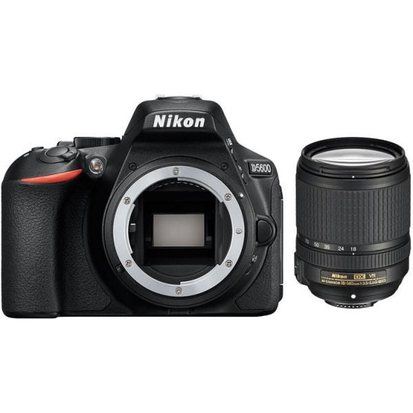 Nikon D5600 DSLR Camera Body with AFP 18-140mm Lens Kit (Black) - Spinner-Gadget