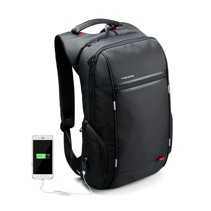 7c3ab15a5f6b External USB Charge Computer Bag Anti-theft Notebook Backpack 15.6   17 inch  Waterproof Laptop Backpack for Men Women - B KS3144W   15 inches