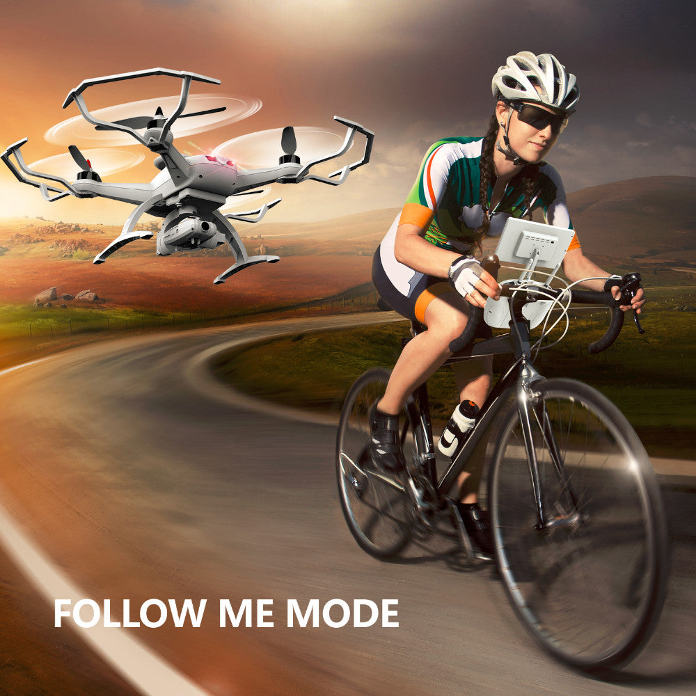 Racing Drone With HD Camera Dual GPS Follow mode Headless Mode Real-Time Transformation RC RTF Dron remote control Helicopters - Spinner-Gadget