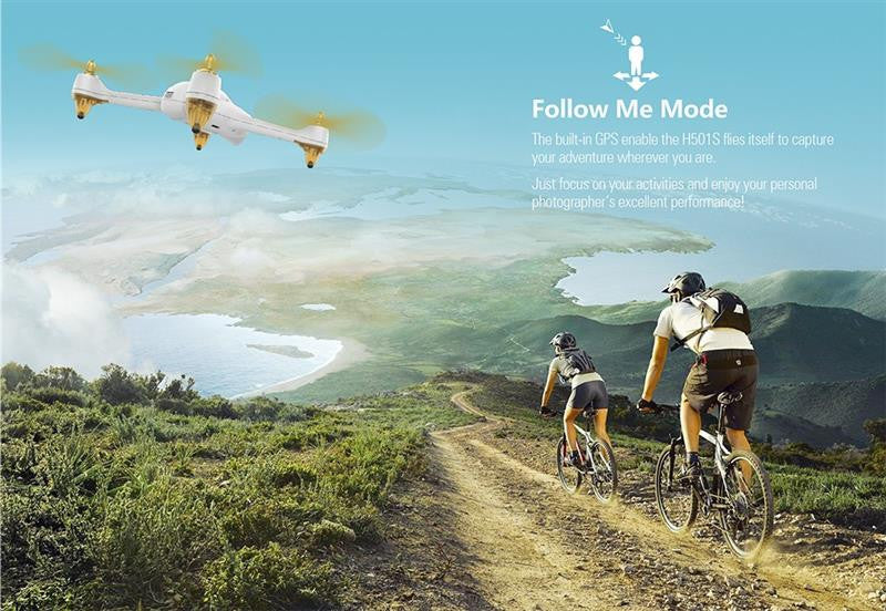 Follow Me Mode Quadcopter RC Drone - Spinner-Gadget