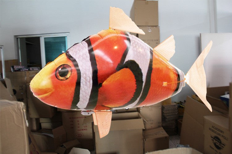 RC fish toys drone RC Shark Clown fish balloons Nemo inflatable with helium fish plane kids toys RC helicopter - Spinner-Gadget