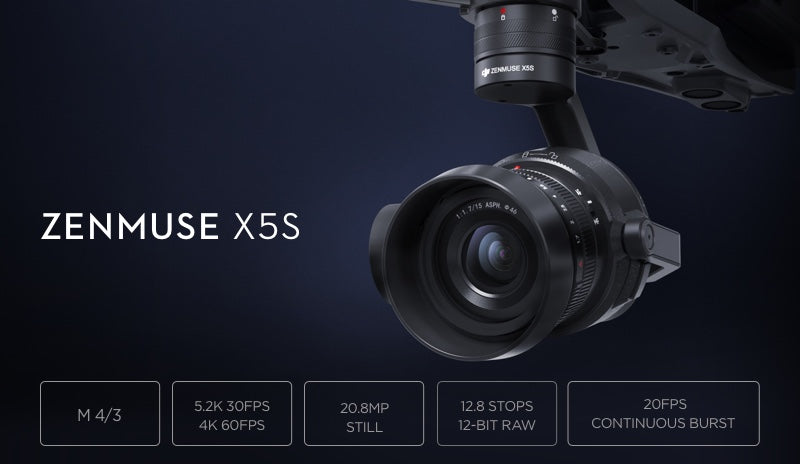 ZENMUSE X5S Gimbal Camera 4K 5.2K Video High-end Professional Filmmaking for Inspire2 Drone Inspire 2 Original Accessories - Spinner-Gadget