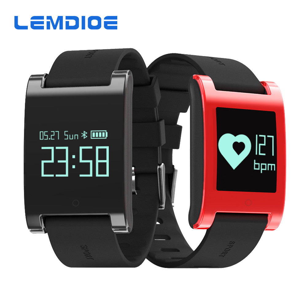 LEMDOIE DM68 waterproof smart band wristband fitness tracker Blood Pressure heart rate monitor Calls Messages watch for phone - Spinner-Gadget