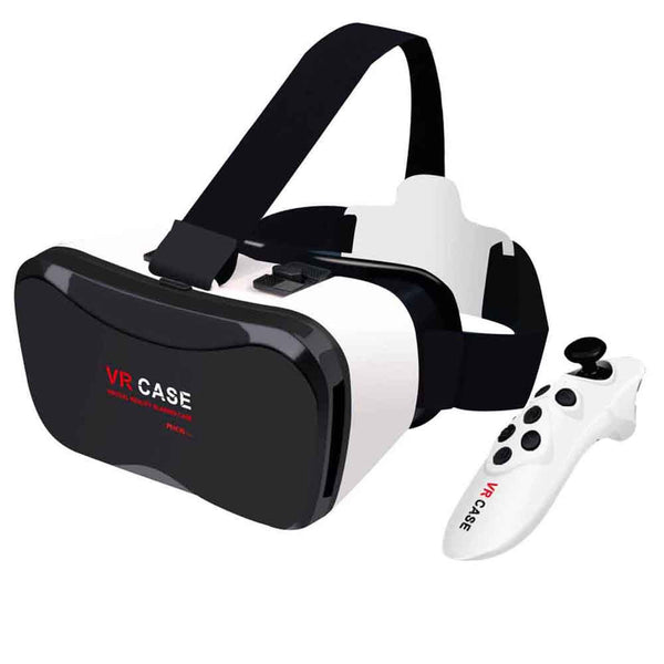 New VR Case Plus Immersive Virtual Reality Glasses For 4-6.3 inch SmartPhone+Remote Control - Spinner-Gadget