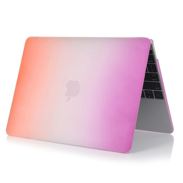 Macbook Air Pro Retina Matte Rainbow Hard Protector Case - Spinner-Gadget