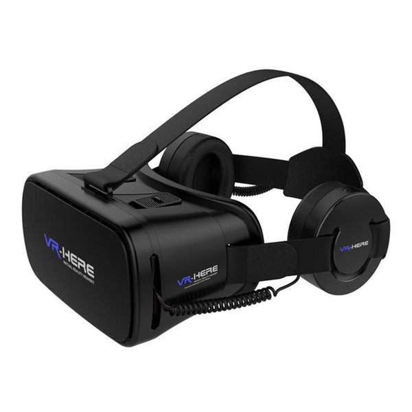 Virtual Reality Glasses Black with Earphones Wired VR Earphone Headset