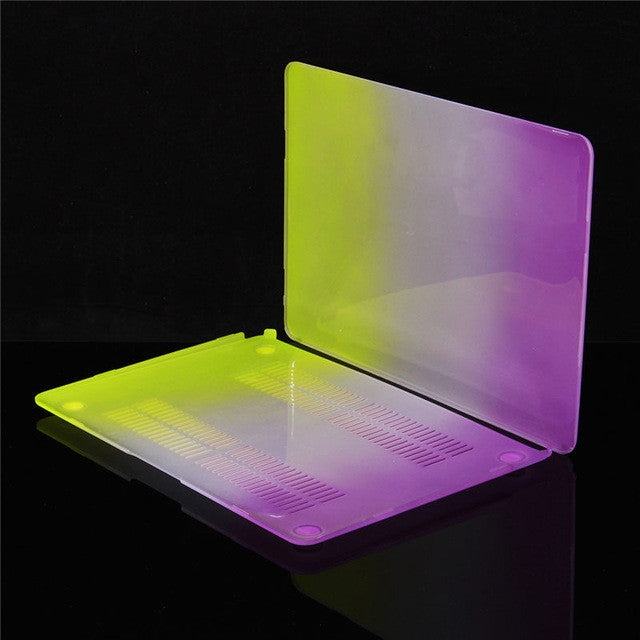 Macbook 12 inch Colorful Rainbow Protector mac case - Spinner-Gadget