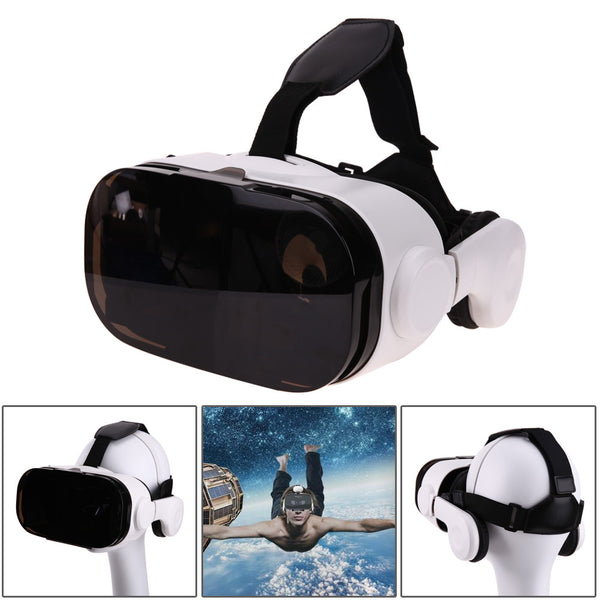 VR Box with Bluetooth Headset 3D Cardboard Helmet Virtual Reality VR Glasses Cardboard for Mobile Phone Smart Phone - Spinner-Gadget