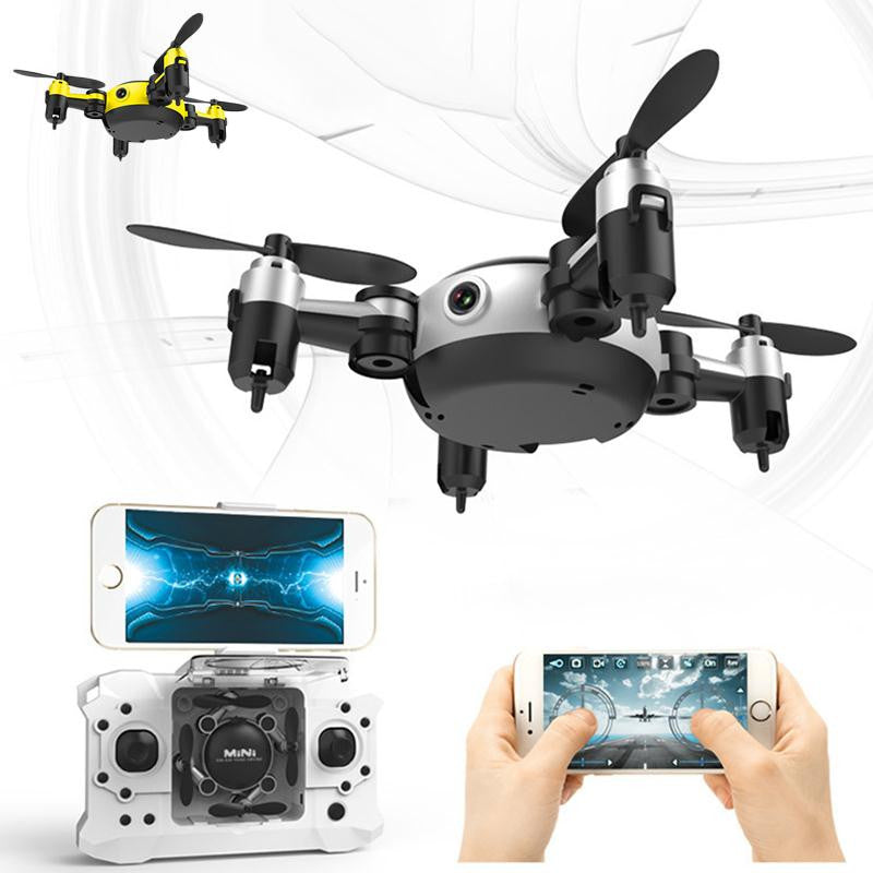 Quadrocopter Dron 2017 WiFi Pocket Drone 4CH 6Axis Gyro Quadcopter With Switchable Controller RTF UAV RC Helicopter Mini Drones - Spinner-Gadget