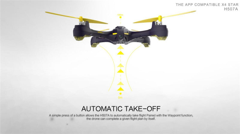 Hubsan X4 STAR H507A App Compatible Wifi FPV RC Drones With 720P HD Camera GPS Follow Headless Quadcopter RTF VS Hubsan X4 H501A - Spinner-Gadget
