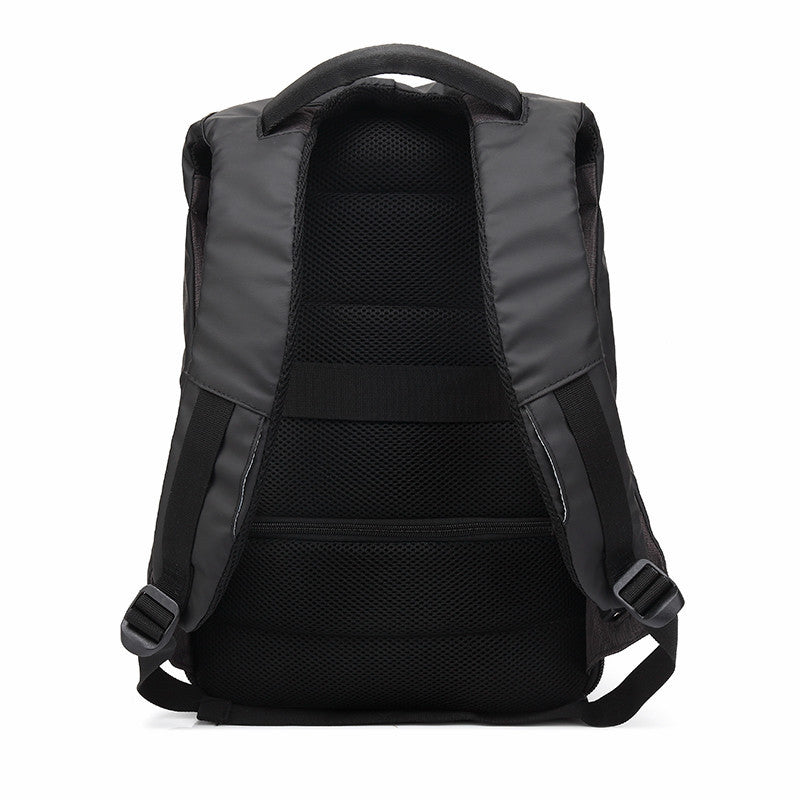Ozuko Men Backpacks USB Charge Computer Backpack Password Lock 15.6Inch Laptop Bags Casual Three-dimensional Anti-theft Backpack - Spinner-Gadget