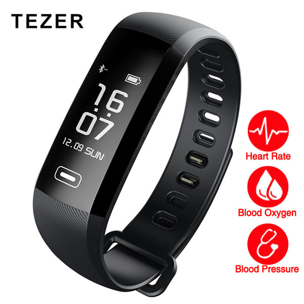 TEZER R5MAX blood pressure heart rate monitor Blood oxygen 50 Letter message push large smart Fitness Bracelet Watch intelligent - Spinner-Gadget