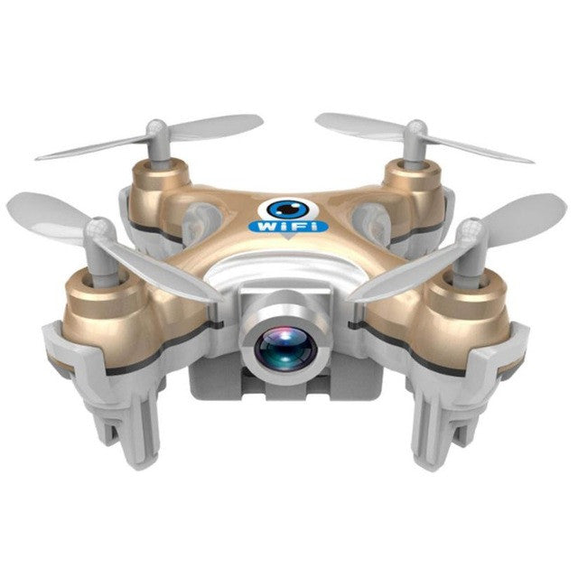 Headless Drone Cheerson CX-10W Mini Wifi FPV With 720P Camera 2.4G 4CH 6 Axis LED RC Quadcopter Mini Drone Helicopter - Spinner-Gadget