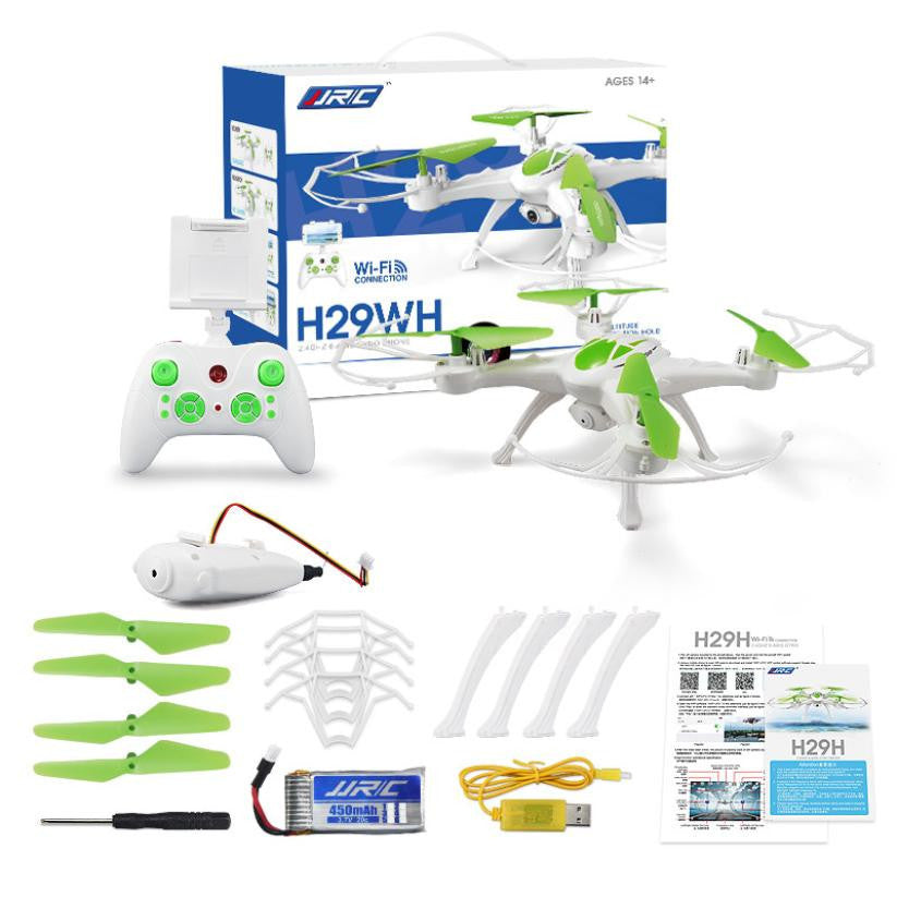 Mini Drone JJRC H29WH RC Quadcopter 2.4G 4CH 6-Axis Gyro With 0.4MP WIFI Camera Drone with camera RC toys for children - Spinner-Gadget