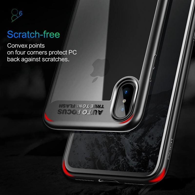 For iPhone X Case, ROCK Slim Full Protective PC & TPU Silicone Cover Case for iPhone X - Spinner-Gadget