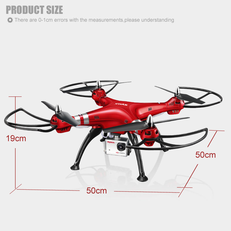 Drone With Camera 8MP HD 6 Axis 4CH RC Quadcopter Remote Control Drones Aircraft - Spinner-Gadget