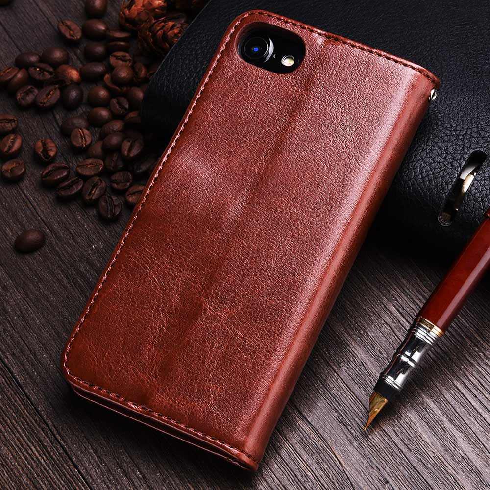 TOMKAS Wallet Case For iPhone 8 7 PU Leather Flip Phone Cases Covers For iPhone 7 Plus Kickstand Vintage For iPhone 8 Plus Case - Spinner-Gadget