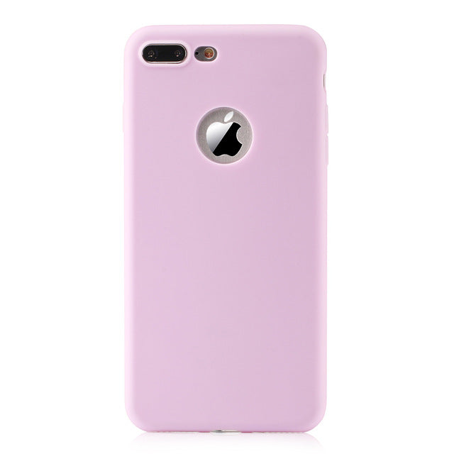 iPhone 7 8 Case Silicone Phone Cover for iPhone 6 6s Plus Solid Candy Color Ultra Thin Soft Gel Rubber TPU - Spinner-Gadget