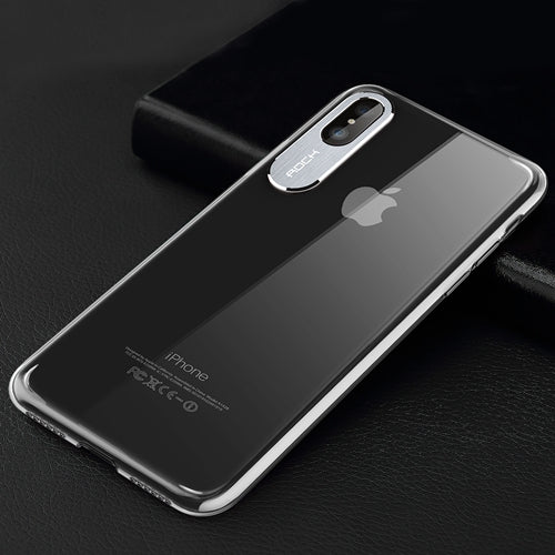 For iPhone X Case, ROCK Luxury Business Style Protection Case for iPhone X Cover Metal Protection for Phone Camera for iPhoneX