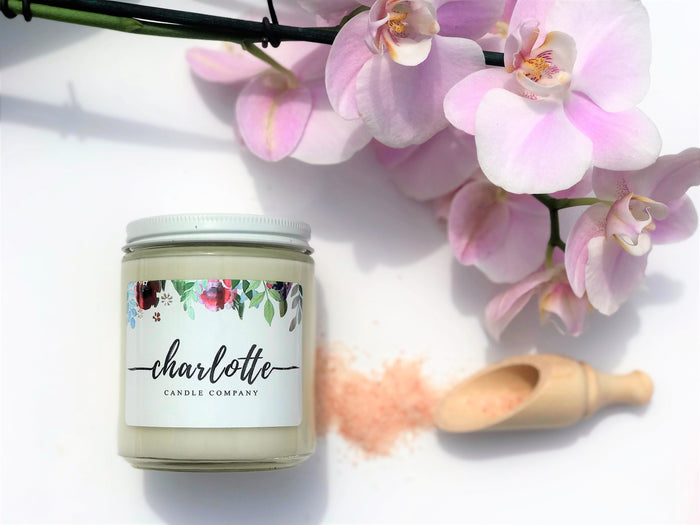 SEA SALT + ORCHID - Charlotte Candle Company