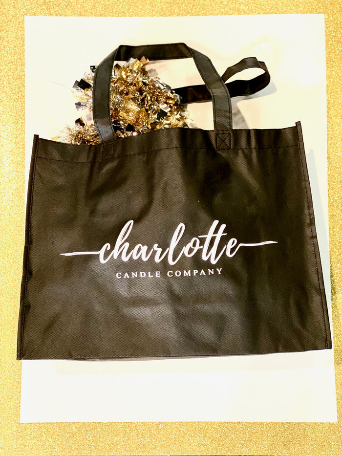 REUSABLE CHARLOTTE CANDLE CO. SHOPPING BAG