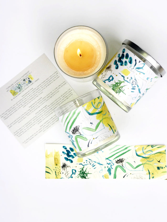 GINGER VANILLA SAFFRON by BROOKE KNAUS - Charlotte Candle Company