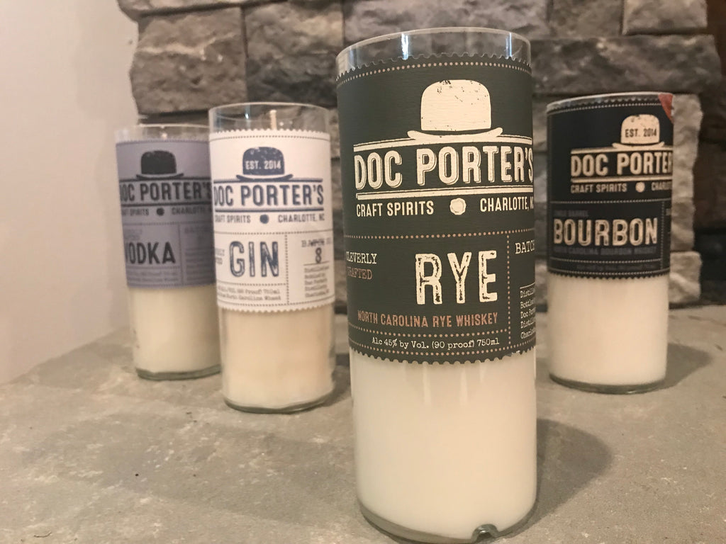 DOC PORTER'S RECYCLED BOTTLE CANDLES - Charlotte Candle Company