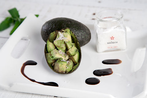 Avocado with Balsamic and Salt