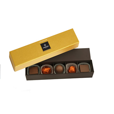 Gold 5pc Praline Box