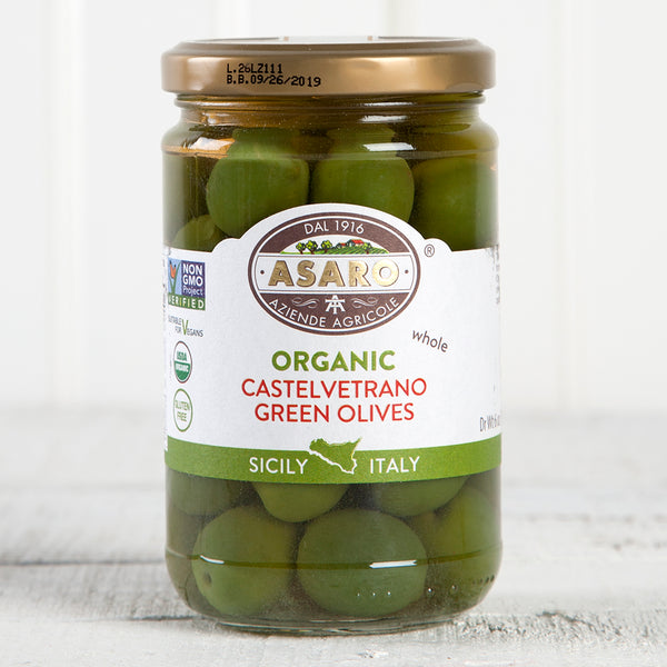 Organic Castelvetrano Green Olives - 4 oz