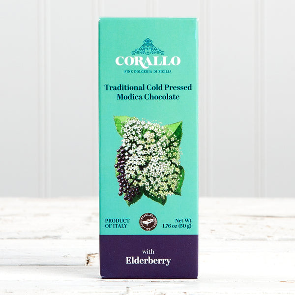 "Modica Chocolate Bar with Elderberry ""Sambuca"" - 1.76 oz"