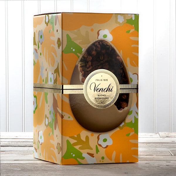 White Chocolate with Salted Hazelnuts, Pistachio and Almonds Easter Egg - 17.6 oz