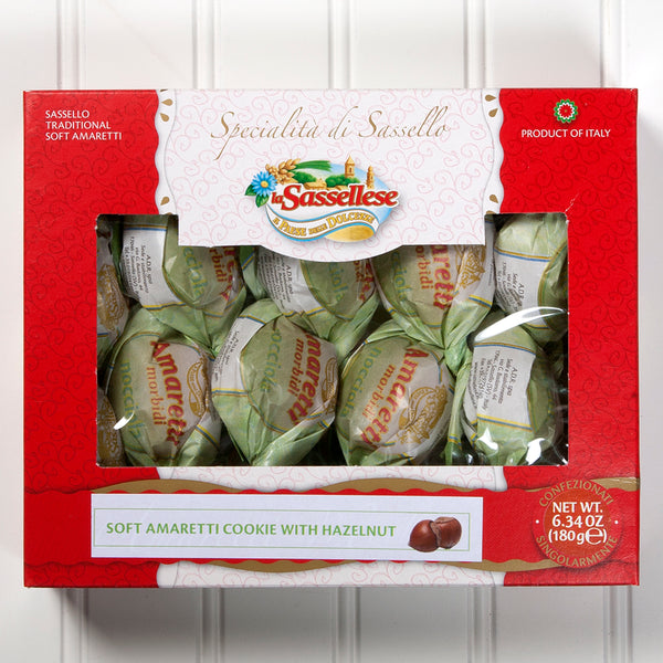 Soft Hazelnut Amaretti Cookies Window Box - 6 oz