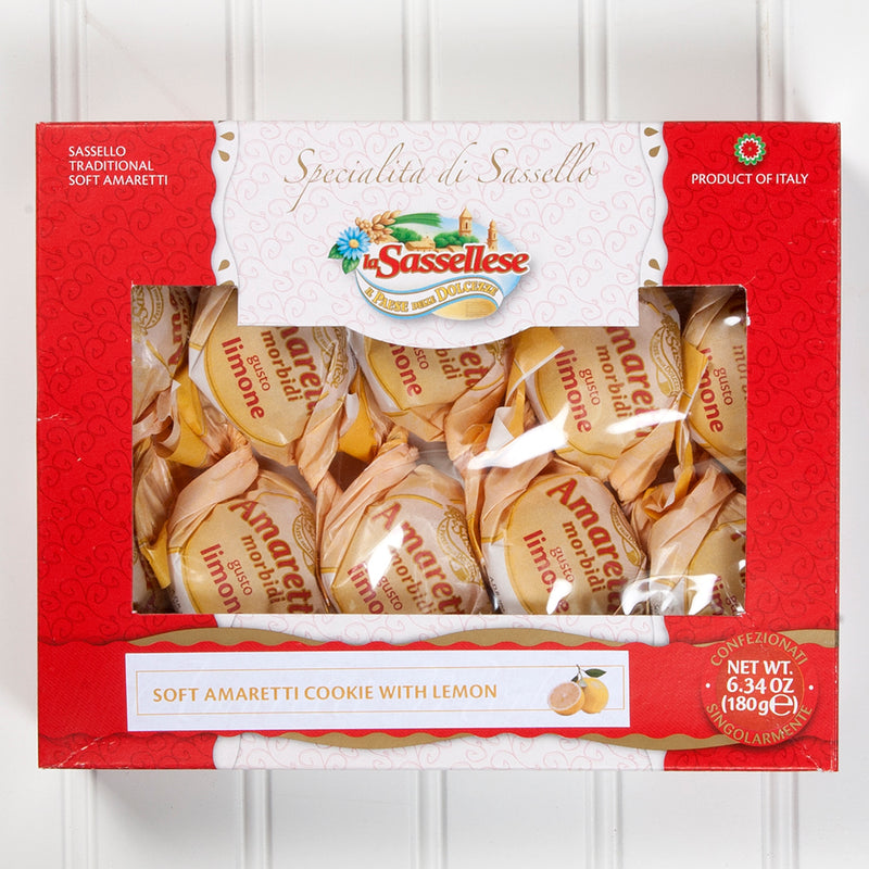 Soft Lemon Amaretti Cookies Window Box - 6 oz