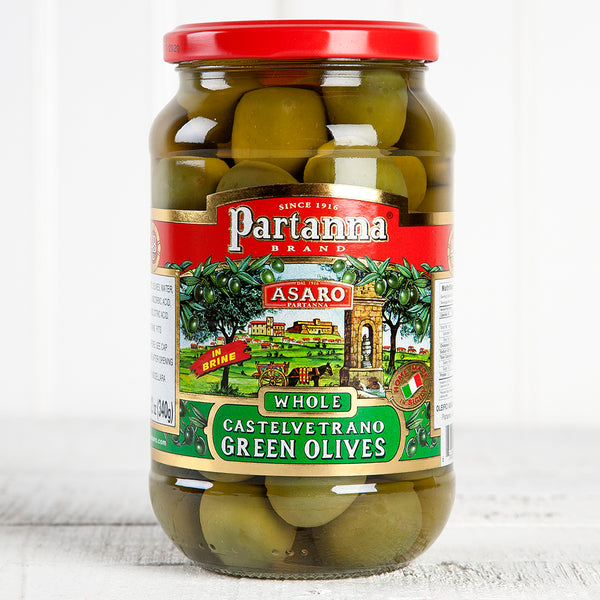 Whole Sicilian Castelvetrano Green Olives - 12 oz