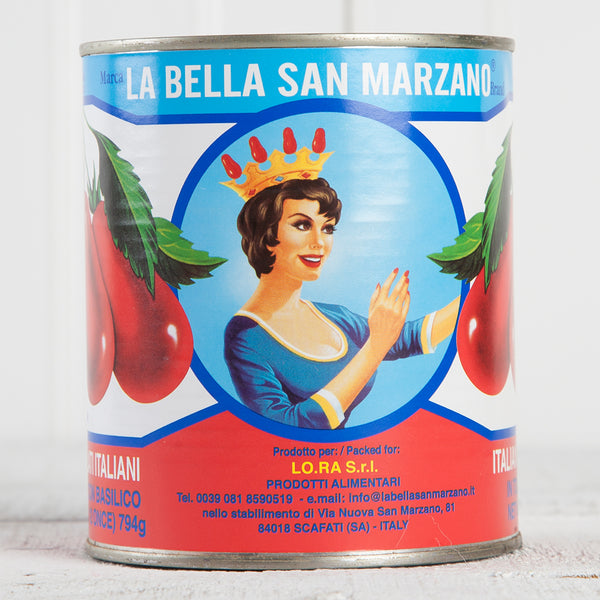 Peeled Tomatoes w/ Basil Leaf - 28 oz can