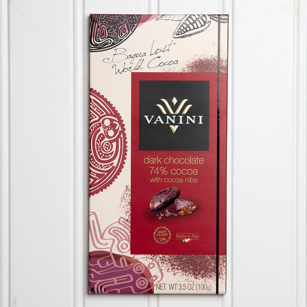 74% Dark Chocolate with Cocoa Nibs - 3.5 oz
