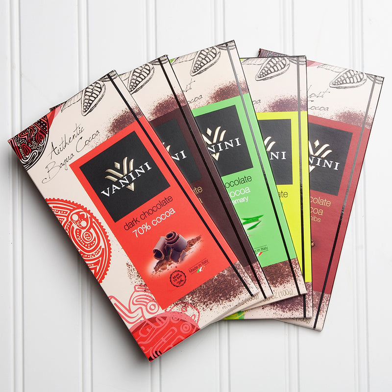 Vanini Dark Chocolate Bar Collection - Set of 5