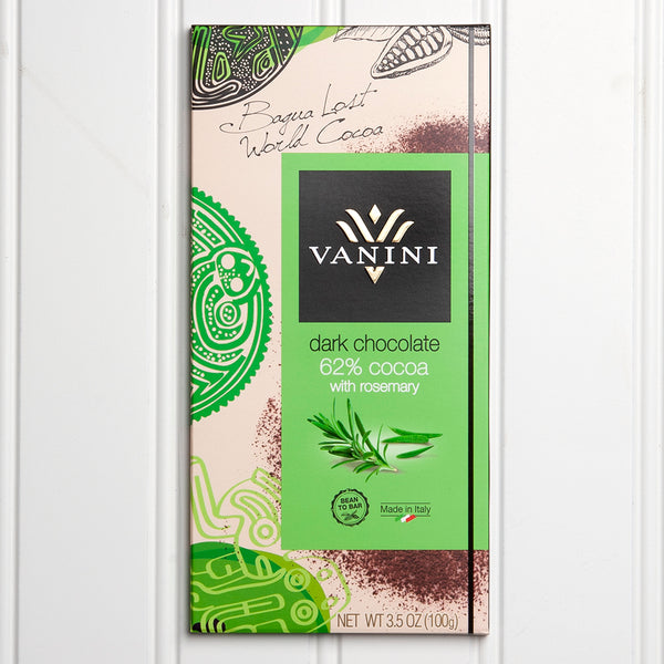 62% Dark Chocolate with Rosemary - 3.5 oz