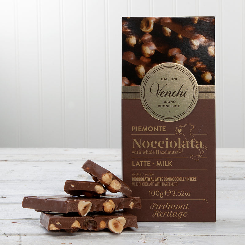 Nocciolata Milk Chocolate with Whole Hazelnuts Bar - 3.52 oz