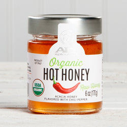 Raw Organic Hot Acacia Honey - 6 oz