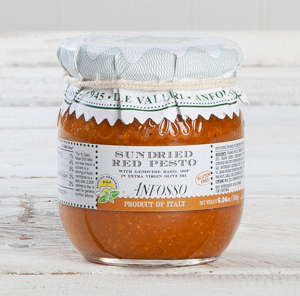 DOP Sundried Red Pesto with Genovese Basil - 6.35 oz