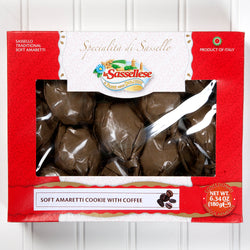 Soft Coffee Amaretti Cookies Window Box - 6 oz