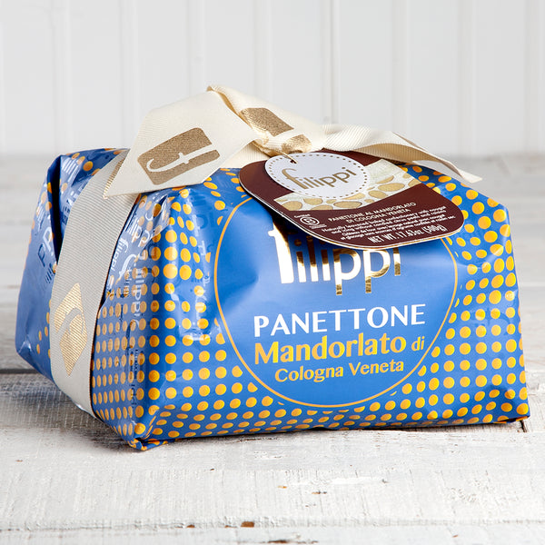 Almond Glazed Panettone with Torrone Nougat - 17.6 oz