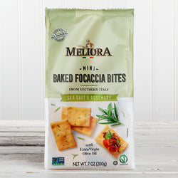 Mini Baked Focaccia Bites with Sea Salt & Rosemary - 7 oz
