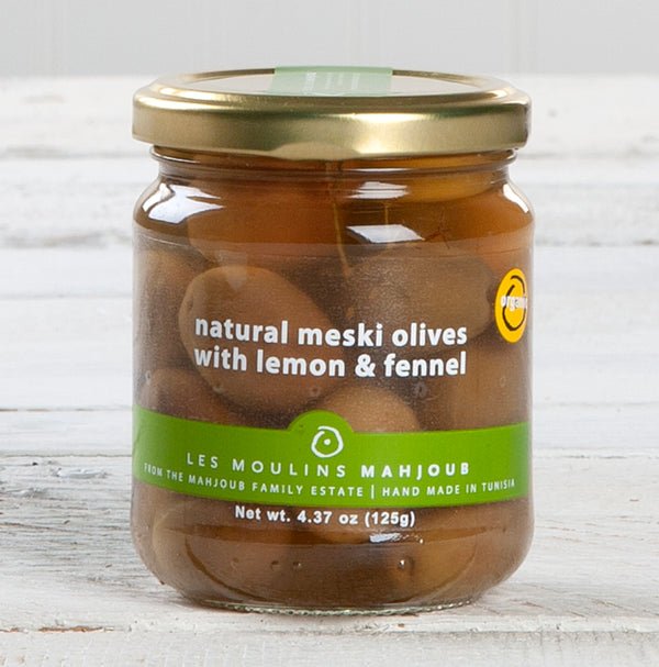 Meski Green Olives with Lemon and Fennel - 4.37 oz