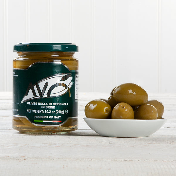 Bella di Cerignola Large Green Olives in Brine - 9 oz