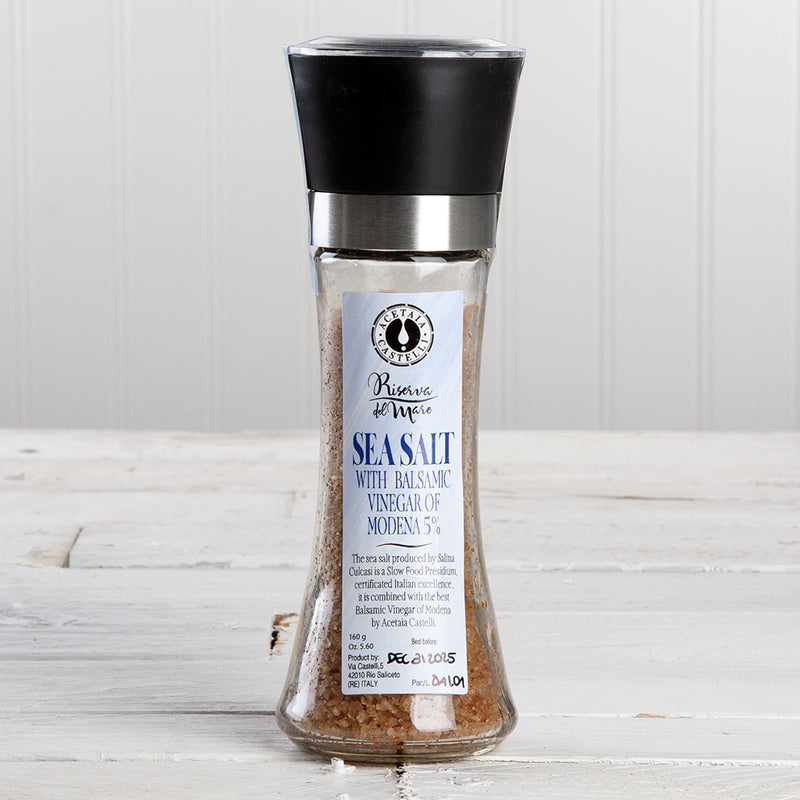 Sicilian Sea Salt with Balsamic Vinegar of Modena Grinder - 5.6 oz