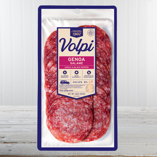 Volpi Sliced Genoa Salame - 4 oz